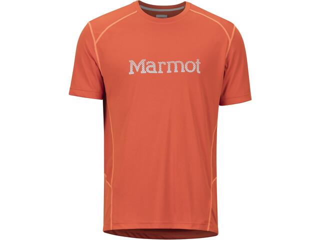 Marmot Windridge Lyhythihainen Paita Grafiikalla Miehet, orange haze